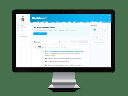 urbanbound intern software solution - dashboard view-1